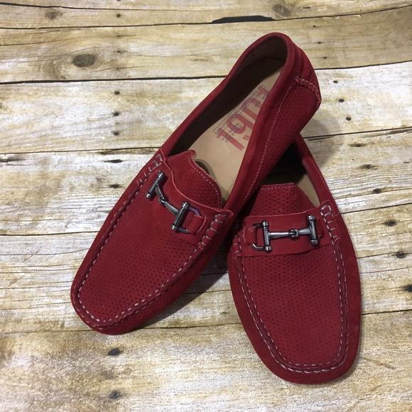 109f9154810 Nordstrom 1901 Red Suede Destin Driving Shoe Slip